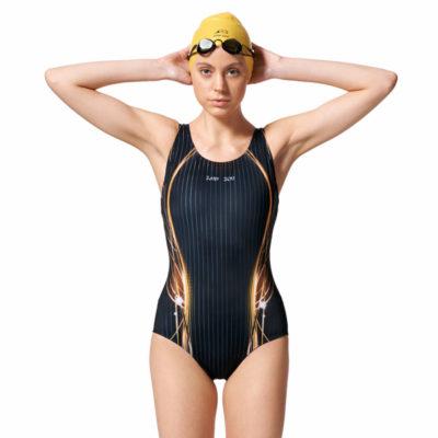 競賽型泳衣-中叉 A97442-16