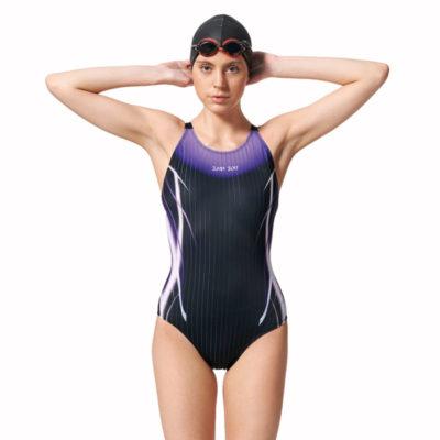 競賽型泳衣-中叉 A97445-01