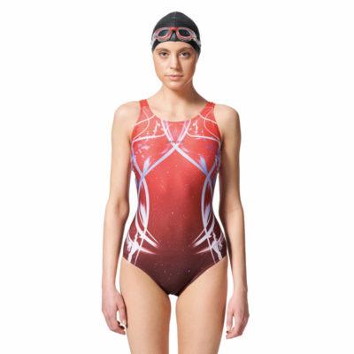 競賽型泳衣-中叉 A97502